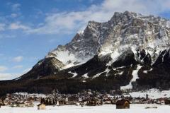 De Zugspitze is met 2962 meter hoogte de hoogste berg van Duitsland en ligt in Zuid-Beieren, op de grens tussen Duitsland en Oostenrijk en is een populair skigebied. ANP COPYRIGHT SVB